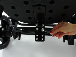 montaż dostawki do wózka