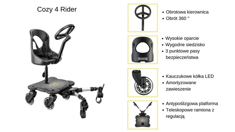 dostawka do wózka Cozy 4 Rider specyfikacja