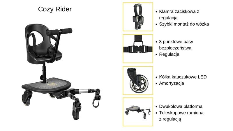dostawka do wózka cozy rider specyfikacja