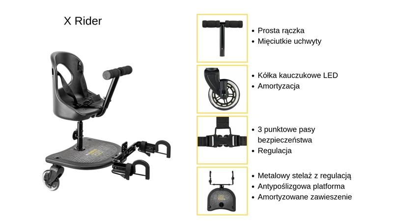 dostawka do wózka X Rider specyfikacja
