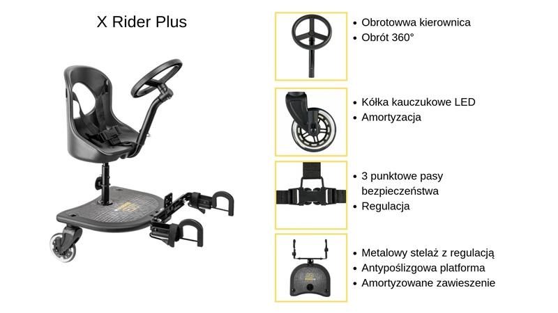 dostawka do wózka X Rider Plus specyfikacja